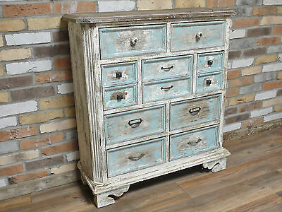 Stunning Retro Shabby Chic Rustic aged Blue finish console table, sideboard 4246