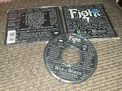 FIGHT War Of Words 1993 album Epic records CD EK 57372 Rob Halford Judas Priest
