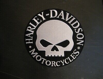 "Harley Davidson ""Willie G"" Skull Round Patch - 9"""