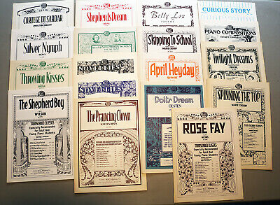 VINTAGE PIANO SHEET Music - Lot of 18 - Intermediate Level Classical  Selections