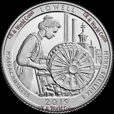 2019 P-D-S Lowell National Park Quarter Massachusetts BU ATB US Mint