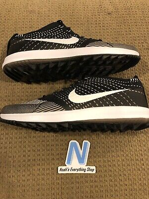 b36d40bbad1a Nike Flyknit Racer G Size 12 Golf Shoes Oreo White Zoom Retro 909756-001 NEW