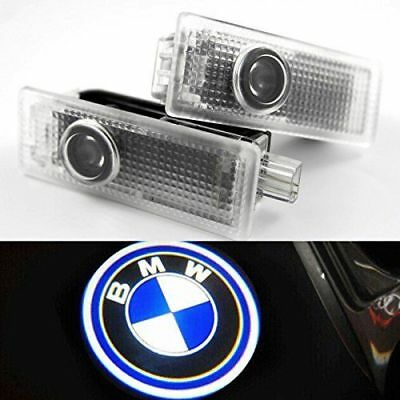 2/4PCS BMW LED Courtesy Laser Welcome Projector Logo Shadow Car Door Lights Lamp