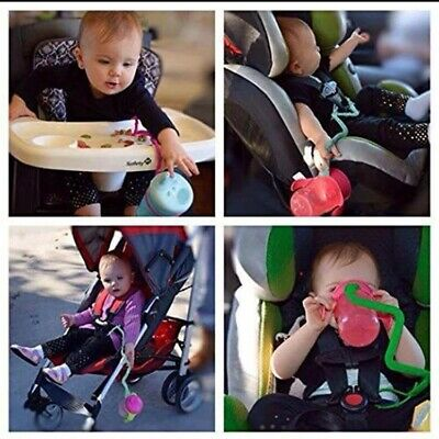 Baby Cup Catcher - Sippy Cup Safety Tether, Green - Catches the Cup