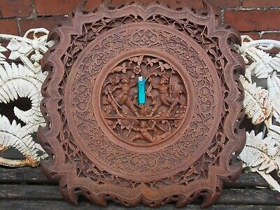 Way Better Than Average Large Antique Carved Indian Table Top