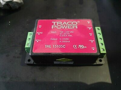 TRACO POWER TML 15105C Enclosed Power Supply (IN21S1B4)