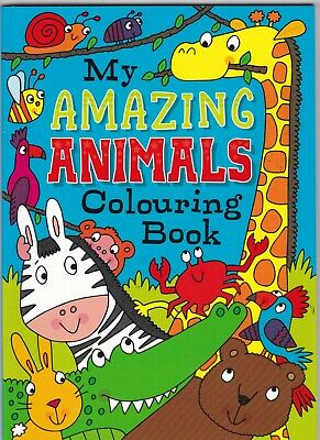 Animals Colouring Book For Children 72 Pictures To Colour Holiday Fun