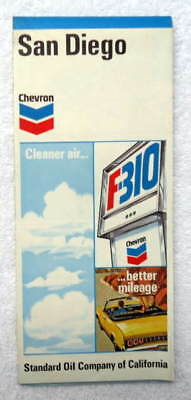1971 Chevron Highway Travel Road Street Map Of San Diego California #45