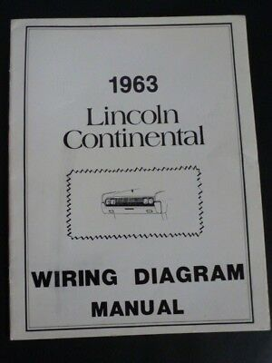 1963 lincoln continental wiring diagram manual