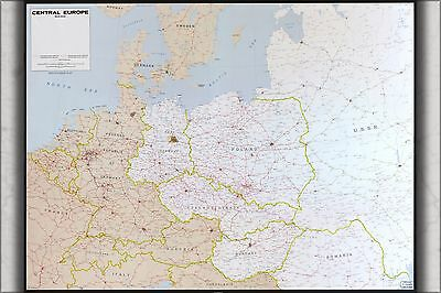 Poster, Many Sizes; Cia Map Of Northern Central Europe Germany 1973