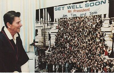 Ronald Reagan Get Well Wishes From White House Staff April 1981 Postcard