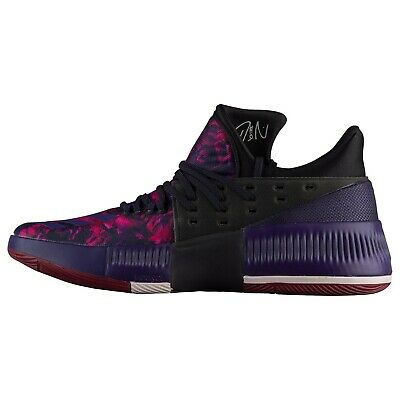 new arrivals 804ea e9dca adidas Mens Dame 3 Rose City Damian Lillard Pink Purple Red Shoes B49509  Size 9