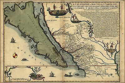 Poster, Many Sizes; Map Of California As An Island 1720 P2
