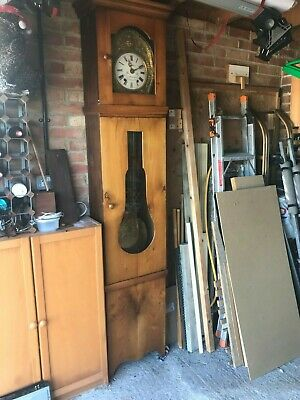 Antique Comtoise French 8 day Grandfather clock; working and recently serviced.
