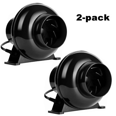 """VIVOHOME 2 Pack 4"""" inch Inline Duct Booster Fan Ventilation Air Blower 195CFM"""