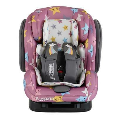 New Cosatto Hug group 123 anti escape isofix car seat Happy Stars from 9 to 36kg
