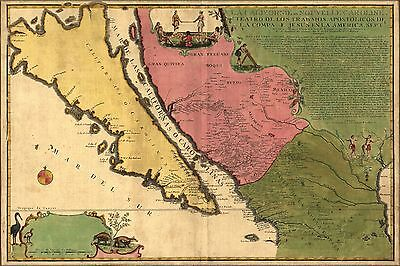 Poster, Many Sizes; Map Of California As An Island 1720 P1