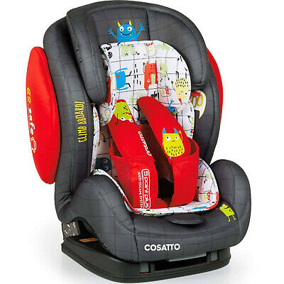 New Cosatto Hug group 123 anti escape isofix car seat Monster mob from 9 to 36kg