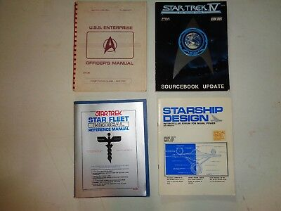Lot of Vintage Star Trek Star Fleet Manuals and Blueprint Posters