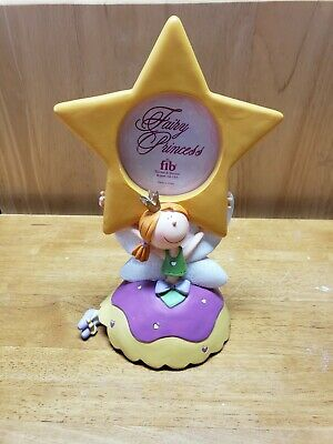 """Yellow Star Fairy Princess Single Picture Frame for Girls Holds 2 1/4 """"  Photo"""
