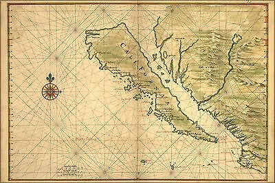 Poster, Many Sizes; Map Of California Shown As An Island 1650 P2