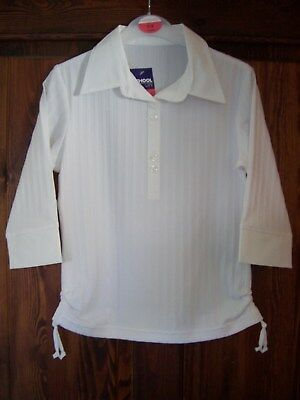 2 X Brand New Girls White Fashion Blouses Age 8-9 Years