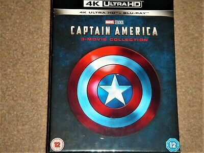 Captain America 4K Ultra HD 3-Movie Collection Box Set / WORLDWIDE SHIPPING