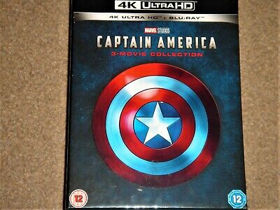 Captain America 4K Ultra HD Movie Collection Box Set / WORLDWIDE SHIPPING
