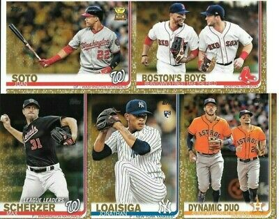 2019 Topps Baseball Series 1 Gold Parallel #'d to 2019  You Pick/Choose Card