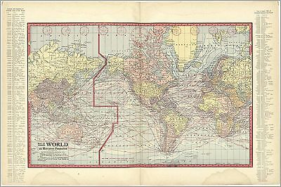 Poster, Many Sizes; Map Of World On Mercator Projection 1914