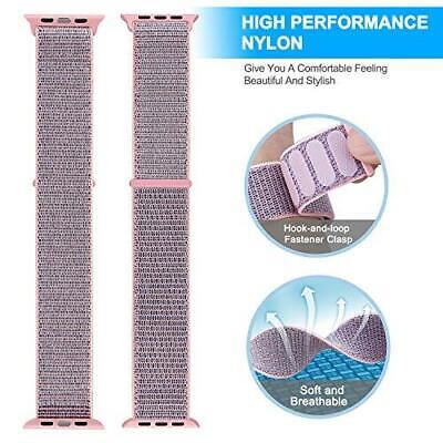 For iWatch  Series 1-4 40mm Woven Replacement Band Sports Loop Nylon Bracelet