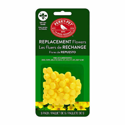 Perky Pet 202FB Replacement 9 pc Yellow Flowers for Hummingbird Feeders USA