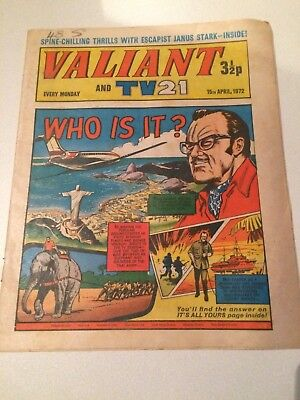 Valiant And Tv 21 Comic From 15Th April 1972.