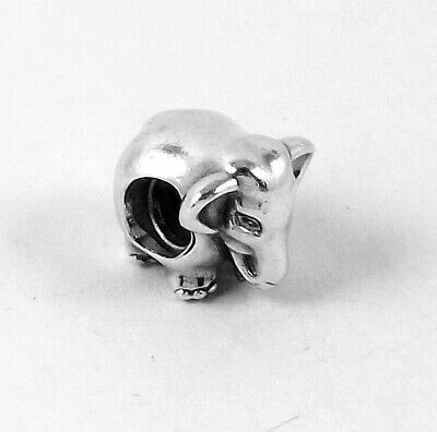 PANDORA 925 ALE Sterling Silver 791130 Beautiful Lucky Elephant 3D Charm *82