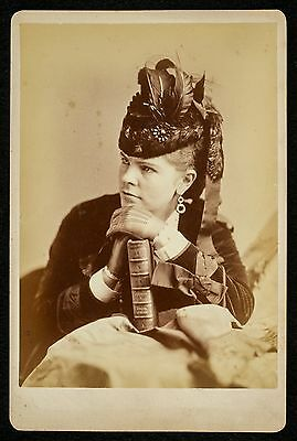 Vintage c1870s cab card PHOTO of ANNIE LOUISE CARY (1842-1921) OPERA STAR Sarony