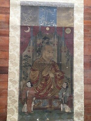 rare Chinese Buddhist painting of a Lama or a monk.Qing Dynasty 18 century