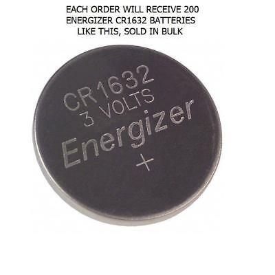 200 Energizer 3V Lithium Cr1632 Ecr1632 Battery In Bulk Cr-1632 Button Batteries