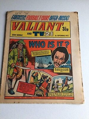 Valiant And Tv 21 Comic From 9Th September 1972.