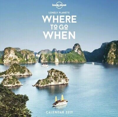 NEW Where To Go When Wall Calendar 2019 Lonely Planet World Travel