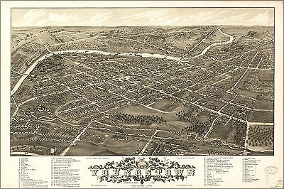 Poster, Many Sizes; Panoramic Map Of Youngstown, Ohio 1882