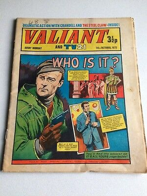 Valiant And Tv 21 Comic From 14Th October 1972.