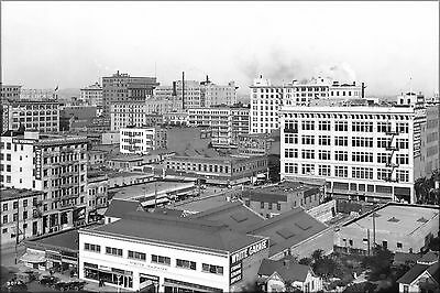 Poster, Many Sizes; Panoramic View Of Downtown Los Angeles, Looking East With Th