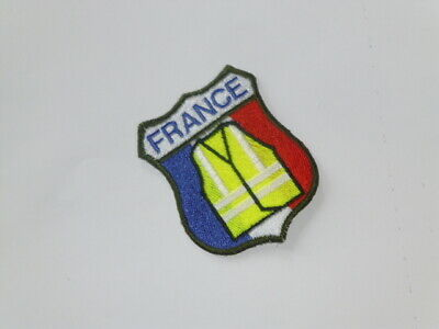 Ecusson Blason patch France brodé soutien mouvement Gilet Jaune