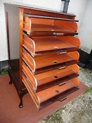 Antique Edwardian Mahogany Filing Cabinet, Chest Of Drawers, 6 Drawers C1900.