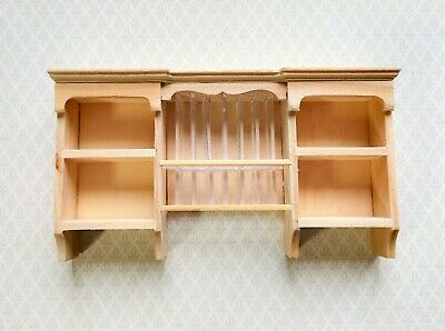 Dollhouse Miniature Hanging Shelf Kitchen with Plate Rack Unfinished 1:12 Scale