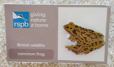 """Brand New """"RSPB"""" - Common Frog Pin Badge (Same Day Dispatch !!)"""