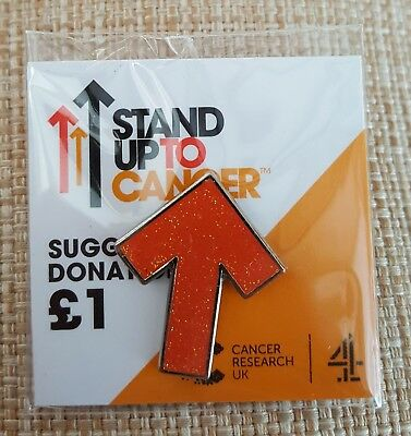 """Brand New & Sealed""""STAND UP TO CANCER CHARITY"""" Sparkly Pin Badge (Same Day Post)"""