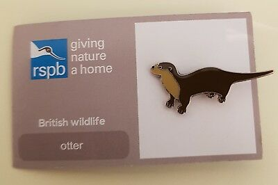 """Brand New Official """"RSPB OTTER"""" Pin Badge (FREE POSTAGE / SAME DAY DISPATCH !!)"""