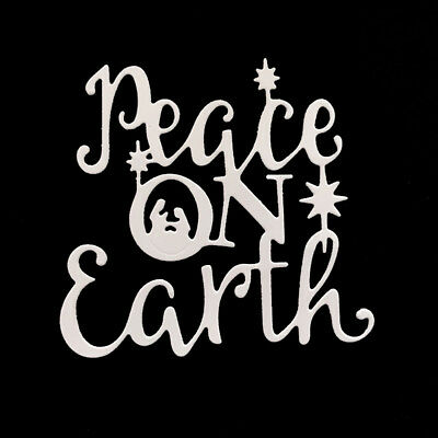 peace on earth letter Metal Cutting Dies For DIY Scrapbooking Card Paper Albu Yj