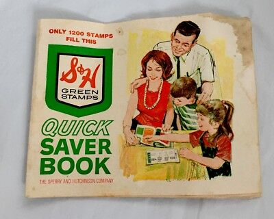 VINTAGE...S&H Green Stamps...Quick Saver Book 1970's..24 Pages..Full / Completed